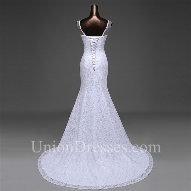Lace Wedding Dress Corset Back Lightbox Moreview