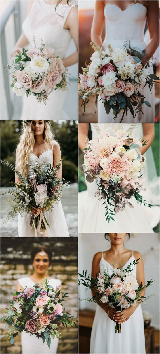 bohemian outdoor wedding bouquets